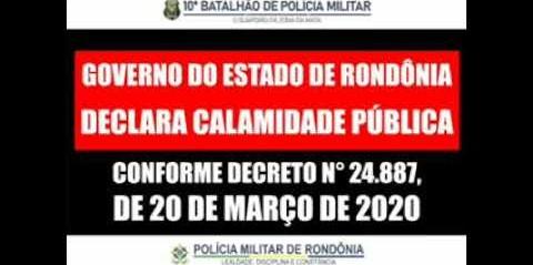 Alerta da Polícia Militar do Estado de Rondônia