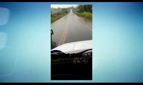 Motorista filma próprio acidente na BR-364 em Rondônia
