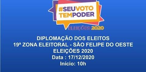 Diplomação dos Eleitos de São Felipe do Oeste