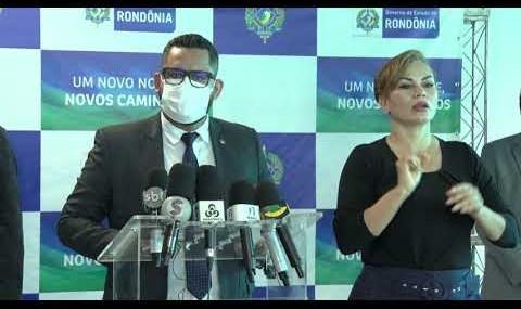 Governo de Rondônia faz coletiva de imprensa para falar sobre reajuste para policiais