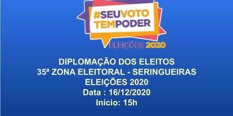 Diplomação dos Eleitos de Seringueiras