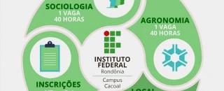 IFRO Campus Cacoal oferece 2 vagas para professores substitutos