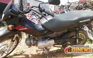 Cacoal:Pop 100 furtada foi abandonada na linha 9 a 3 km da Rodovia do café