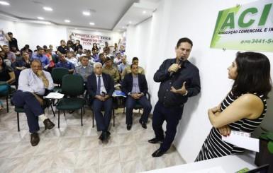 Deputado Maurão participa de reunião onde empresários pedem reforço na segurança