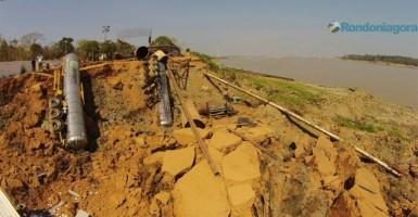 Queda de barranco às margens do Madeira paralisa 20 obras estaduais