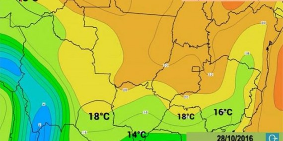 Massa de ar polar derruba as temperaturas em Rondônia no final de semana