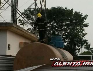 Rolim:Tanque de gasolina é incendiado ao lado de posto de gasolina e próximo a torre de telefonia