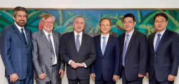 Senador Raupp trata com presidente Michel e empresários chineses sobre Ferrovia Bioceânica DS