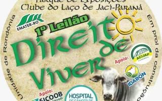 Jacy-Paraná terá 1º Leilão Direito de Viver em prol do Hospital do Câncer