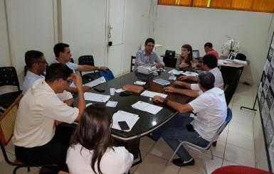 Autarquia de Esporte de Rolim de Moura realiza reunião para apresentar planilha de gasto aditivada na obra do Ginásio de Esportes