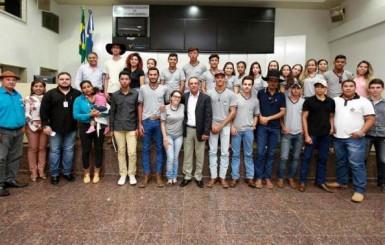 Lazinho da Fetagro palestra para alunos do curso de Técnico em Agropecuária