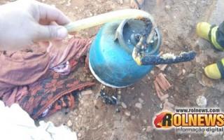 Vazamento na mangueira de botija de gás causa princípio de incêndio em Cacoal