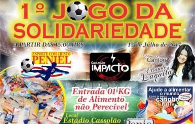 Agenda: 1º Jogo da Solidariedade acontece no dia 15 de Julho no Cassolão