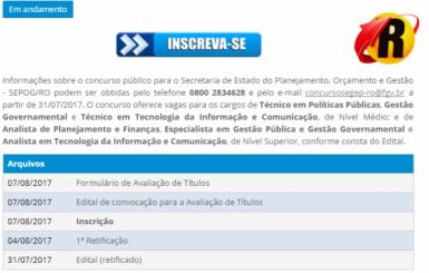 Começam as inscrições para concurso do Governo de Rondônia com salários de até R$ 7.173,80