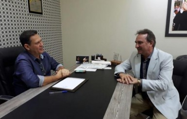 Prefeito Luizão do Trento pede apoio do Presidente da Assembleia Maurão  de Carvalho