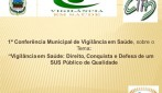 Rolim de Moura - 1ª Conferência Municipal de Vigilância em Saúde  acontece nos dias 28 a 30 de agosto