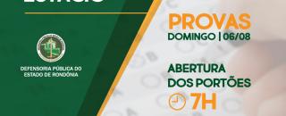 VI Prova de Estágio da DPE-RO reúne mais de 460 estudantes neste domingo