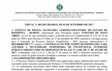 Confira o edital de seleção de médicos veterinários da Idaron