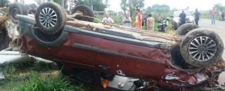 Colisão entre dois carros deixa 5 mortos e uma criança ferida na zona rural de Ji-Paraná