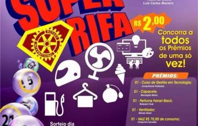 Rotaract Club de Rolim de Moura lança rifa com sorteio de 40 litros de gasolina, vale compras de R$ 100,00 e mais cinco prêmios