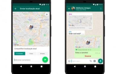 WhatsApp libera compartilhamento de localização em tempo real