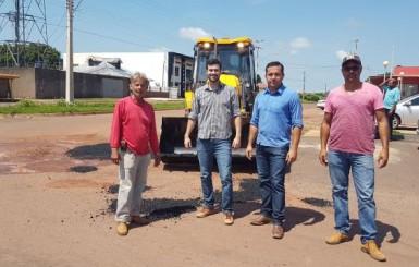 Prefeitura de Rolim de Moura reinicia operação tapa-buracos
