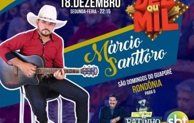 Cantor de Rondônia se apresentará no programa do Ratinho