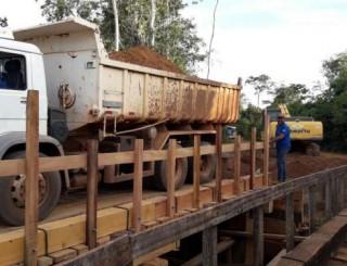 Concluída a ponte de 40 metros que liga o município de Costa Marques ao distrito de São Domingos