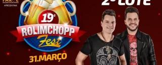 2º lote de ingressos do Rolim Chopp acaba nesta terça, 20
