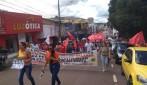 Categorias paralisam atividades e fazem ato contra a reforma da previdência em Rondônia