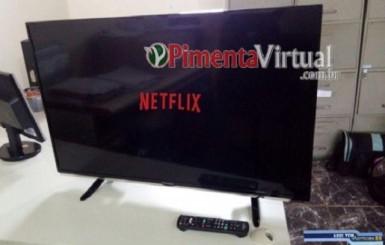 Polícia recupera TV furtada após rastrear conta da Netflix, em Pimenta Bueno