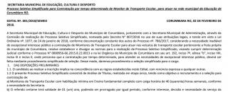 Prefeitura de Corumbiara abre seleção e oferece 11 vagas