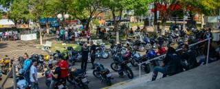 Palco está sendo preparado para o 1º Encontro de Motociclistas de Espigão do Oeste