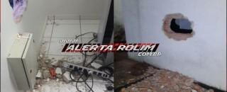 Agência do Banco do Brasil de Santa Luzia tem parede arrombada durante tentativa de furto
