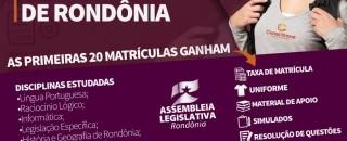 Assembleia Legislativa de RO publica edital de concurso público no diário oficial