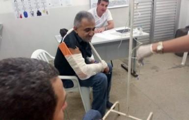 Capotamento na BR-364 deixa deputado e militares feridos