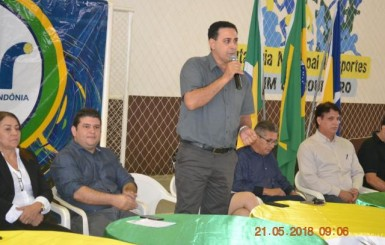 Presidente da Câmara participa de abertura da fase do JOER de Rolim de Moura