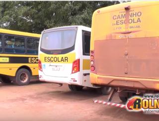 Transporte escolar começa a parar por falta de combustível em Rolim de Moura