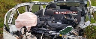 Jovem morre após grave colisão entre caminhão boiadeiro e automóvel na RO-479