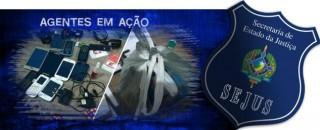 Pacote recheado de celulares se destinava a detentos do presídio de Cacoal