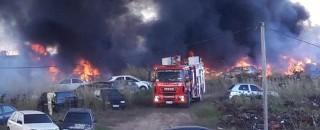 Porto Velho: Incêndio destrói veículos apreendidos no pátio da Polícia Civil