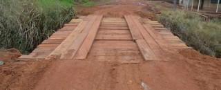 Prefeitura de Rolim de Moura reconstrói ponte na Avenida Niterói