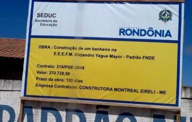 Internautas criticam valor alto para construção de um banheiro em Ji-Paraná