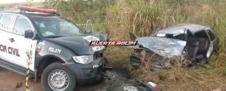 Migrantinópolis: Grave acidente de trânsito envolvendo carro de passeio e viatura da Polícia Civil resulta em...