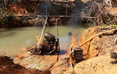 PF e IBAMA deflagram operação contra garimpo ilegal em RO e MT