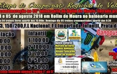 Rolim de Moura – 5ª etapa do Campeonato Regional de Velocross 2018 acontece neste final de semana