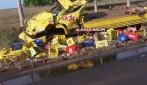 Nova Estrela - Acidente de trânsito envolvendo caminhão de bebidas e veículo de passeio é registrado na RO-010