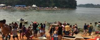 Briga em festival de praia termina com policiais agredidos e quatro pessoas presas, em RO