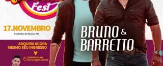Bruno e Barretto vão agitar o 15º November Fest