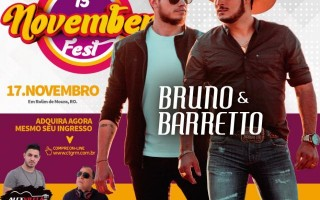 Bruno e Barretto vão agitar o 15º November Fest